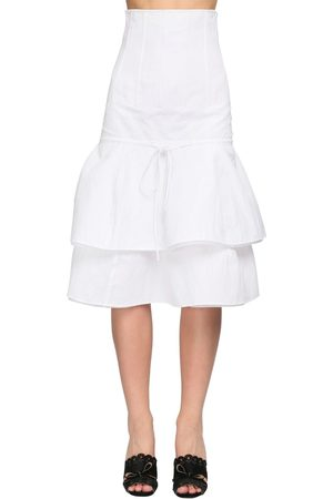 BROCK COLLECTION Ruffled Cotton Blend Midi Skirt