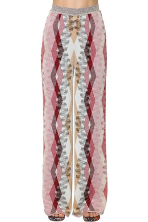 Missoni High Waist Stretch Knit Wide Leg Pants