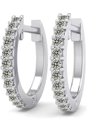 SuperJeweler 1/8 Carat Diamond Men's Hoop Earrings in 14K (1.90 g)