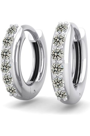 SuperJeweler Men Earrings - 1/4 Carat Diamond Men's Hoop Earrings in 14K (2.70 g)