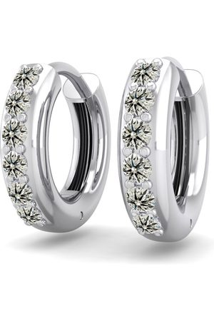 SuperJeweler 1/3 Carat Diamond Men's Hoop Earrings in 14K (3.50 g)