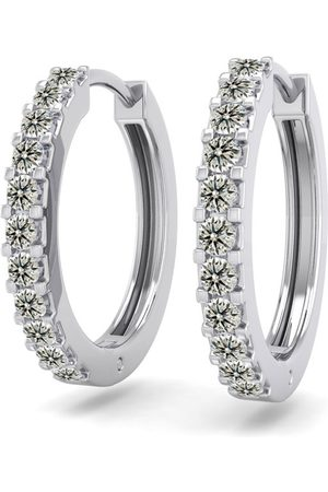 SuperJeweler 1/5 Carat Diamond Men's Hoop Earrings in 14K (2.10 g)