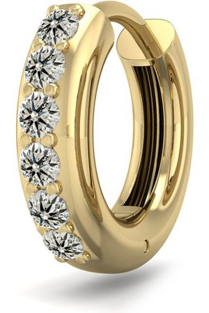 SuperJeweler 1/6 Carat Diamond Single Men's Hoop Earring in 14K (1.75 g)