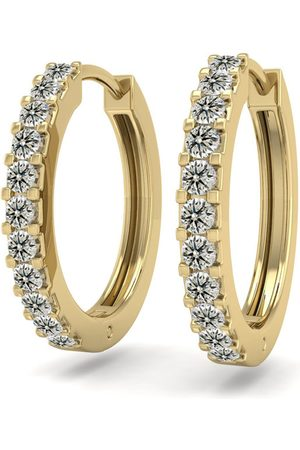 SuperJeweler Men Earrings - 1/5 Carat Diamond Men's Hoop Earrings in 14K (2.10 g)