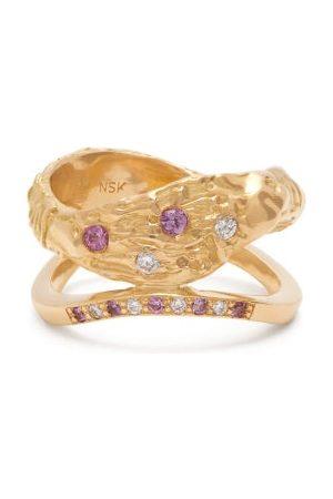 Nadia Shelbaya 115 Diamond, Sapphire & 18kt Ring - Womens