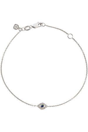 Sydney Evan 14kt white Eye sapphire and diamond bracelet