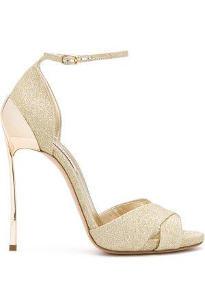 Casadei Women Sandals - Glitter open toe sandals