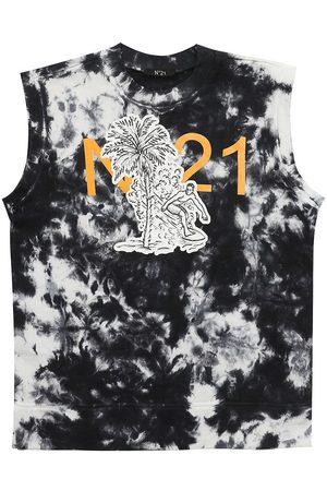 Nº21 Printed Cotton Jersey T-shirt
