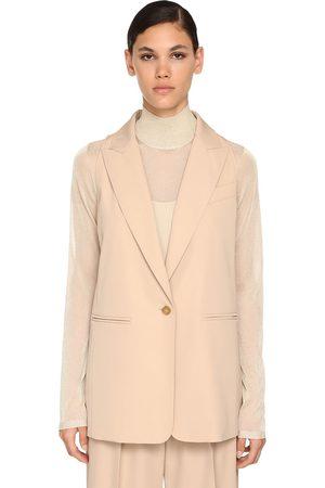 Max Mara Wool Gabardine Vest