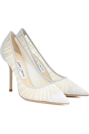 Jimmy Choo Love 100 glitter-tulle pumps