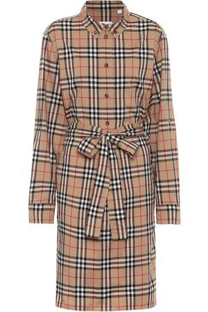 Burberry Vintage Check stretch-cotton shirt dress