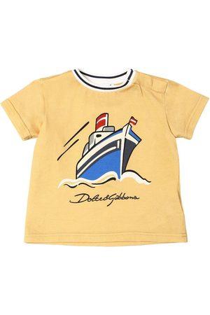 Dolce & Gabbana Boat Print Cotton Jersey T-shirt