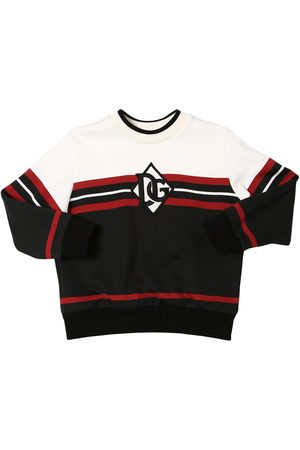 Dolce & Gabbana Cotton Sweatshirt W/ Logo Patch