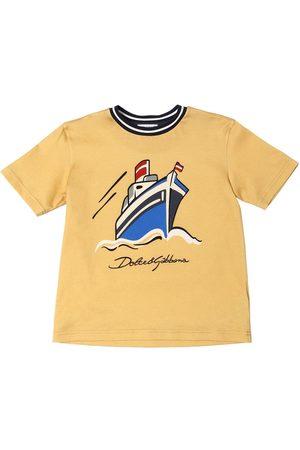 Dolce & Gabbana Boat Printed Cotton Jersey T-shirt