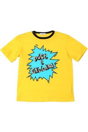 Dolce & Gabbana Logo Print Cotton Jersey T-shirt