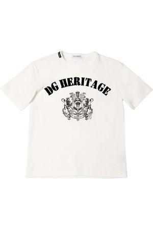 Dolce & Gabbana Logo Heritage Cotton Jersey T-shirt