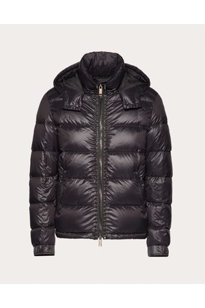 VALENTINO Rockstud Untitled Hooded Puffer Coat Man Polyamide 100% 46