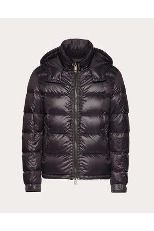 VALENTINO Rockstud Untitled Hooded Puffer Coat Man Polyamide 100% 46