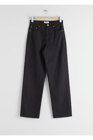 & OTHER STORIES Relaxed Fit Cotton Blend Trousers