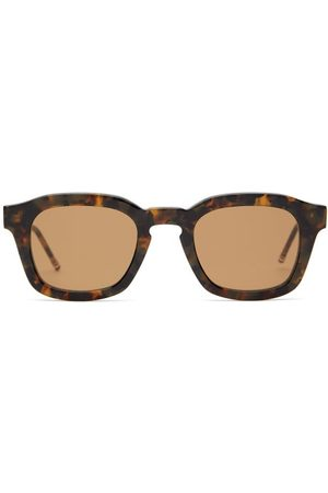 Thom Browne D-frame Tortoiseshell-acetate Sunglasses - Mens - Tortoiseshell