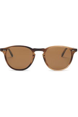 GARRETT LEIGHT Hampton 46 Round Acetate Sunglasses - Mens - Tortoiseshell