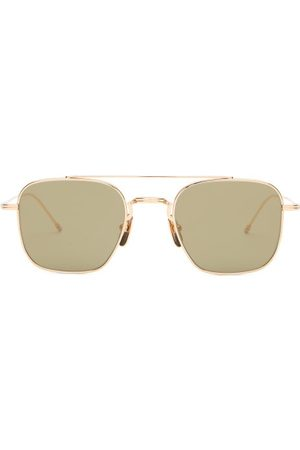 Thom Browne Mirrored Aviator Sunglasses - Mens