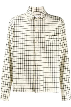 AMI Paris Check camp collar overshirt - Neutrals
