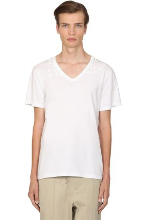 Maison Margiela Printed Cotton Jersey T-shirt
