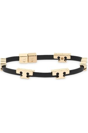 Tory Burch Serif-t Single Wrap Leather Bracelet