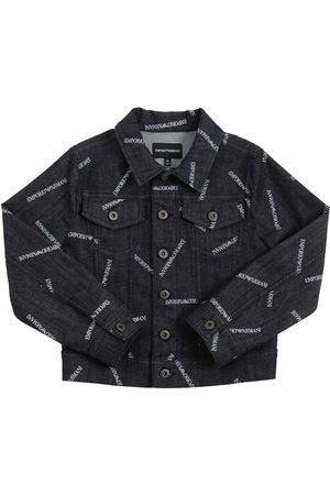 Emporio Armani All Over Logo Stretch Jacket