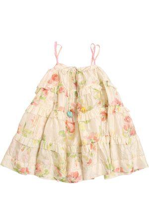 PÉRO Flower Print Cotton Satin Dress