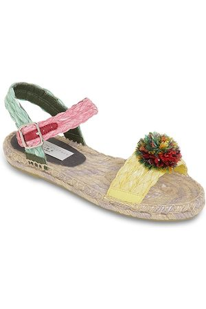 Stella McCartney Raffia Sandals W/ Pompom