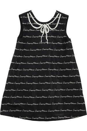 Emporio Armani Girls Dresses - Logo Jacquard Taffetà Party Dress