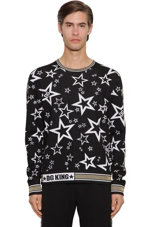 Dolce & Gabbana Jacquard Knit Virgin Wool Blend Sweater