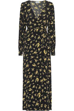 Ganni Floral crêpe maxi dress
