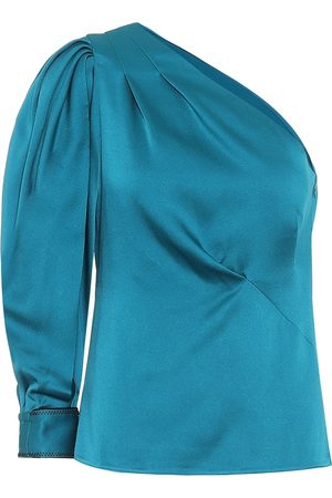 Peter Pilotto One-shoulder satin blouse