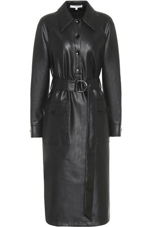 tibi Faux-leather midi dress