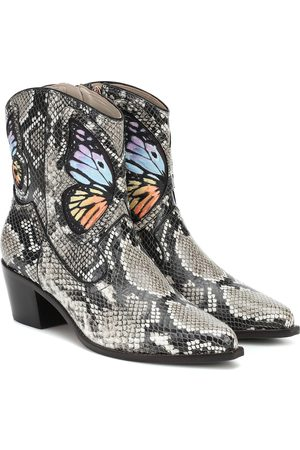 SOPHIA WEBSTER Shelby snake-effect ankle boots
