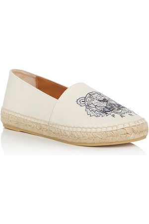 Kenzo Women's Tiger-Embroidered Espadrille Flats