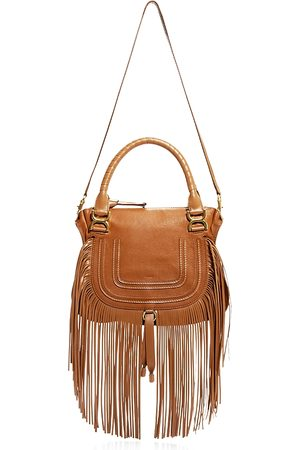 Chloé Marcie Medium Fringed Leather Satchel