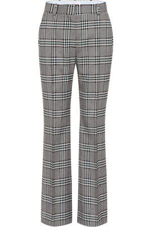 Chloé Checked high-rise wide-leg pants