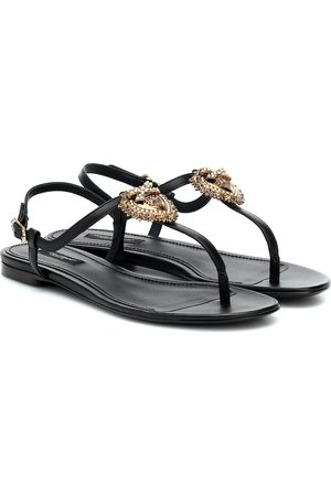 Dolce & Gabbana Devotion leather sandals