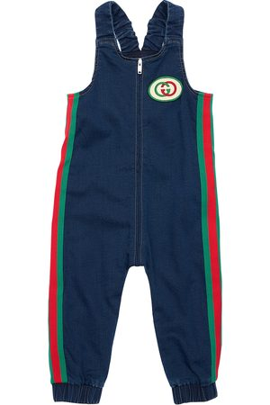 Gucci Effect Cotton Sweatshirt Overalls