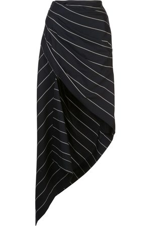 MONSE Pinstriped asymmetric skirt