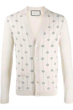 Gucci Logo pinstripe cardigan - Neutrals