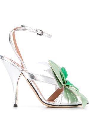 MARCO DE VINCENZO Women Sandals - Flower-embellished stiletto sandals