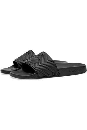 Gucci Men Sandals - Pursuit Rubber GG Slide