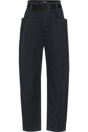 Isabel Marant Cotton and linen high-rise pants
