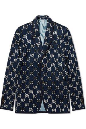 Gucci Men Blazers - GG Jacquard Jersey Blazer