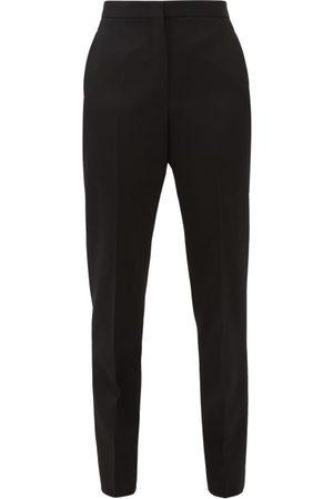 Jil Sander Women Skinny Pants - Slim-leg Wool-crepe Trousers - Womens